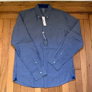 Indigo blue and white j.crew men's shirt